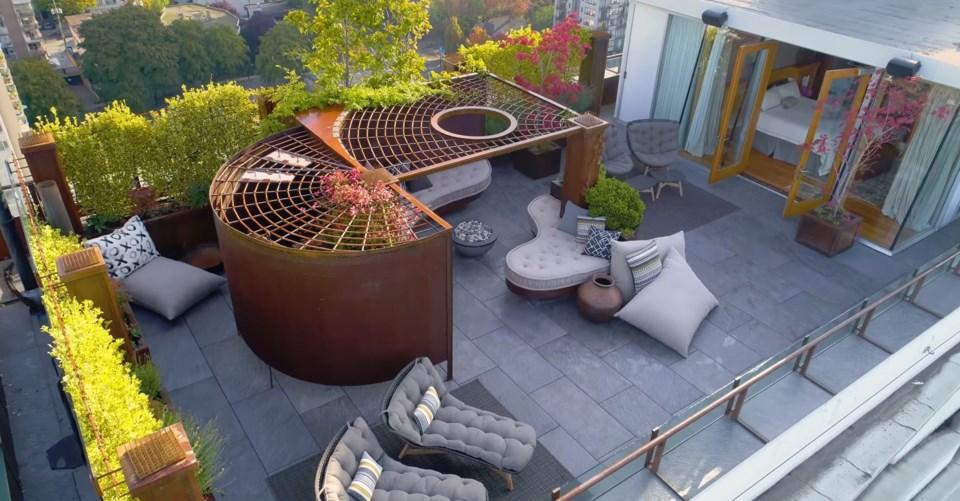 West End penthouse master bedroom terrace