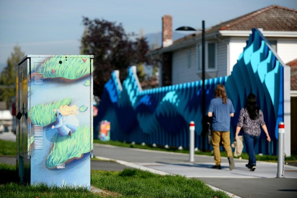 student art, Willingdon Linear Park
