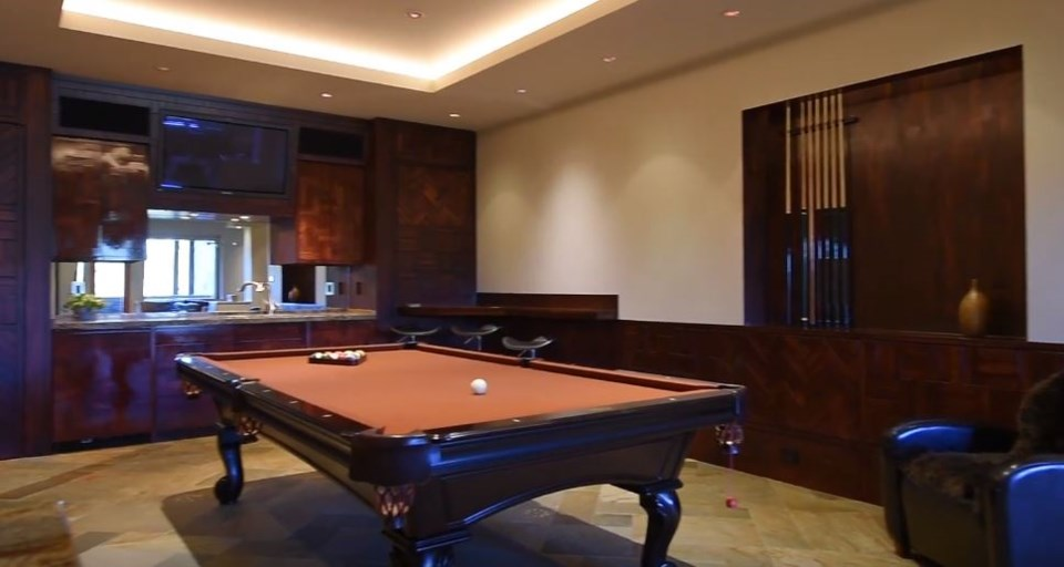 Whistler cliff mansion games room YouTube