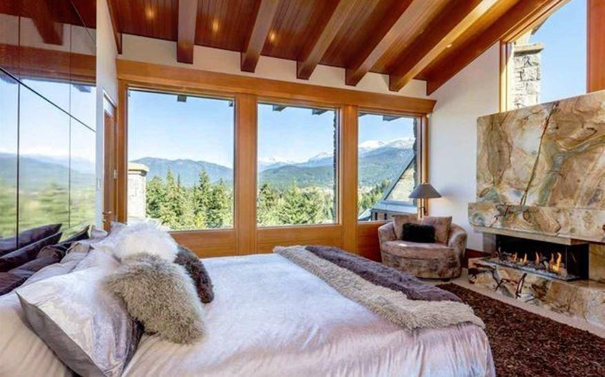 Whistler cliff mansion master bedroom