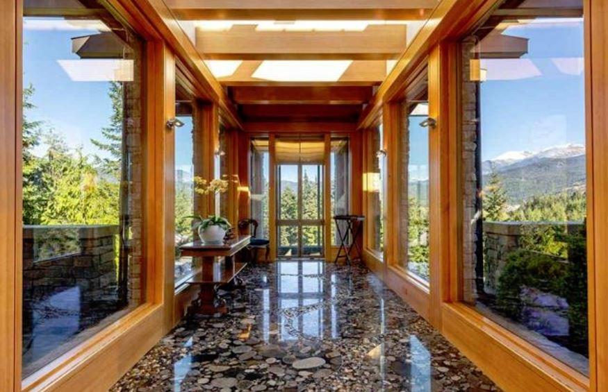 Whistler cliff mansion corridor