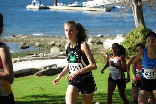 Royal City Track and Field runner Katie Stewart-Barnett strode to a first-place result at last week's B.C. cross country championships last week.
