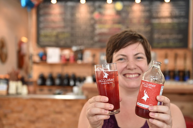 Callister Brewing's Diana McKenzie offers flavours such as Traditional Tonic, Raspberry Earl Grey, G