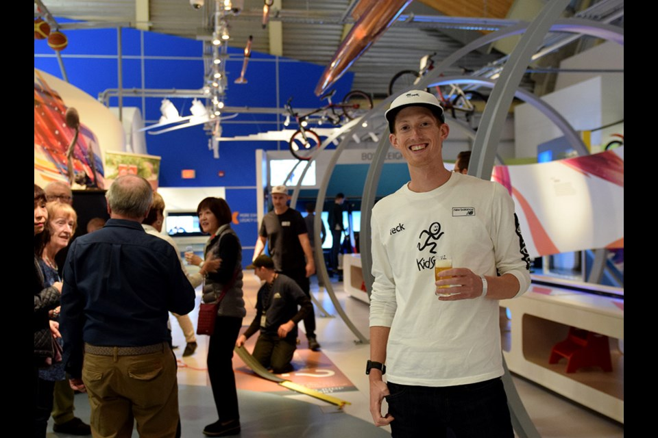 Richmond Olympian Evan Dunfee attended the Olympic Experience Museum's first ever adults-only craft beer night. Photo: Richmond News/Megan Devlin