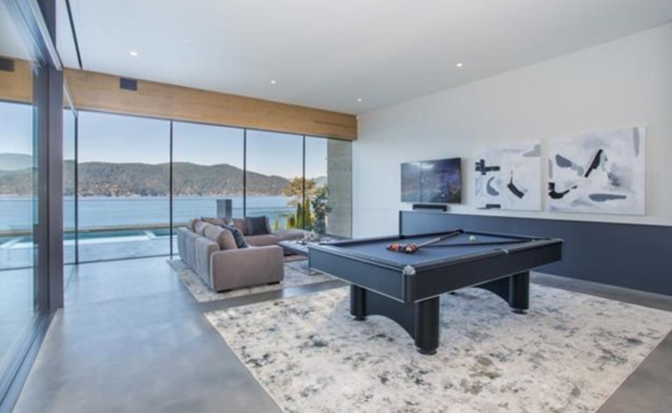 West Vancouver Modernist house family rec room
