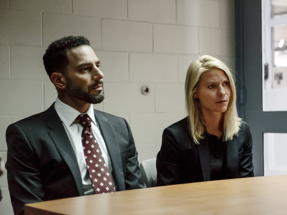 Patrick Sabongui with Claire Danes in Homeland.