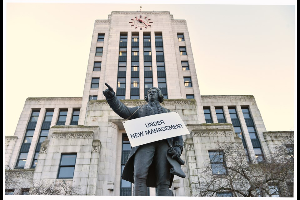 This year saw the election of a new mayor, an almost entirely new council and the obliteration of Vision Vancouver, the city's ruling party for 10 years. Photo Dan Toulgoet