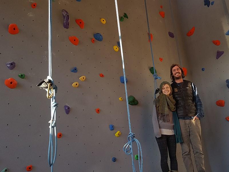 Powell River Climbing Co-op organizers Luke Raftl [left] and Tracy Raftl