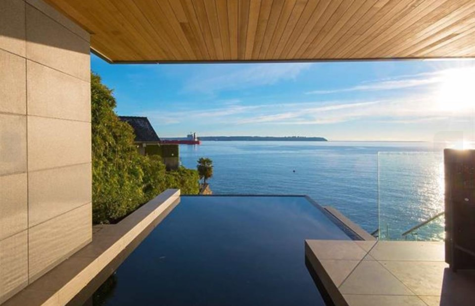 West Vancouver Marine Drive house infinity pool