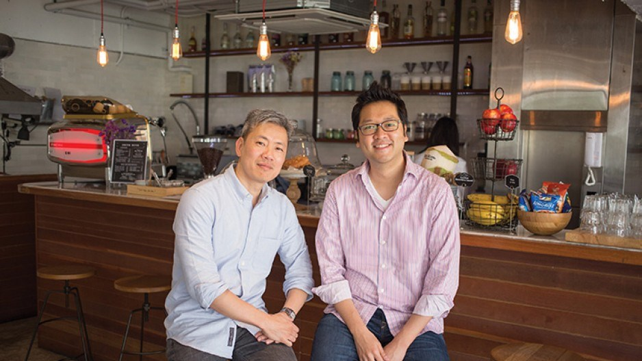 David Wong, co-founder and CEO of Booqed, left, and Charles Oh, the company's co-founder and COO. Ph