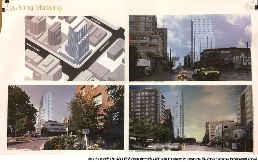 The proposed massing of 1296 Broadway will dramatically change the neighbourhood character and views