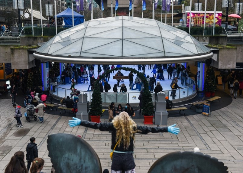 Looking for something to do on Christmas Day? There's ice skating at Robson Square from noon until 5