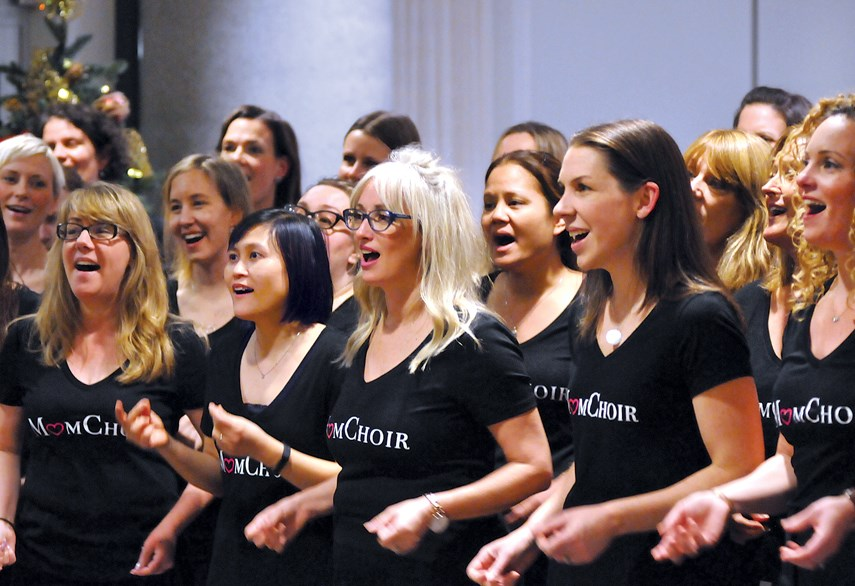 Members of MomChoir perform Christmas classics during a visit and sing-a-long with residents at Westerleigh Parc in West Vancouver. MomChoir was formed earlier this year and now boasts more than 50 members. photo Paul McGrath, North Shore News