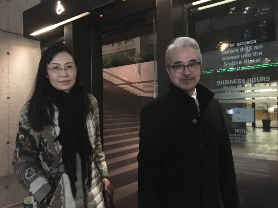 Husband and wife Paul Oei and Loretta Lai attended Oei's court date for a leave to appeal a BCSC dec