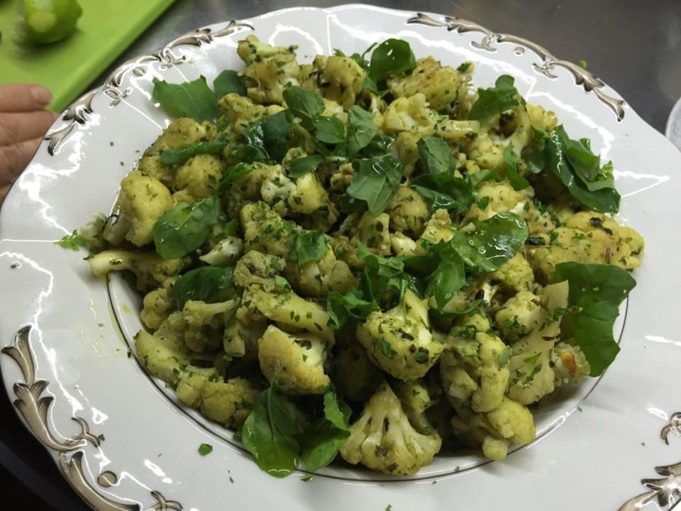 Cauliflower and watercress