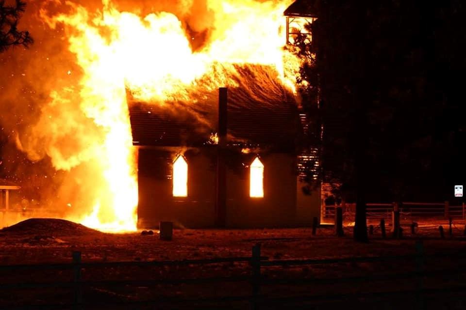 Merritt church fire