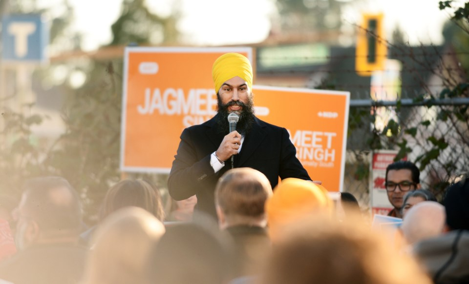 Singh with crowd