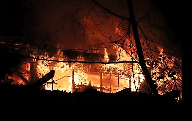 A workshop on Burnaby Mountain burned to the ground Saturday night. SHANE MACKICHAN PHOTOS
