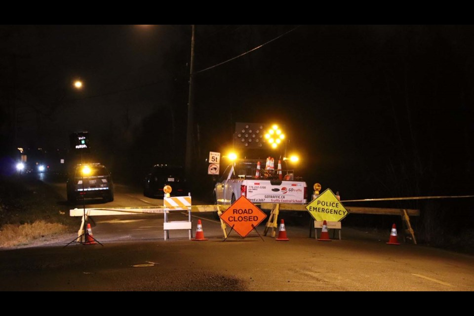 No. 6 Road was closed between Blundell Road and Westminster Highway after an early morning crash. Shane MacKichan photos