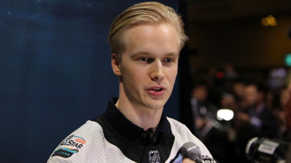 Elias Pettersson at the 2019 All-Star Weekend