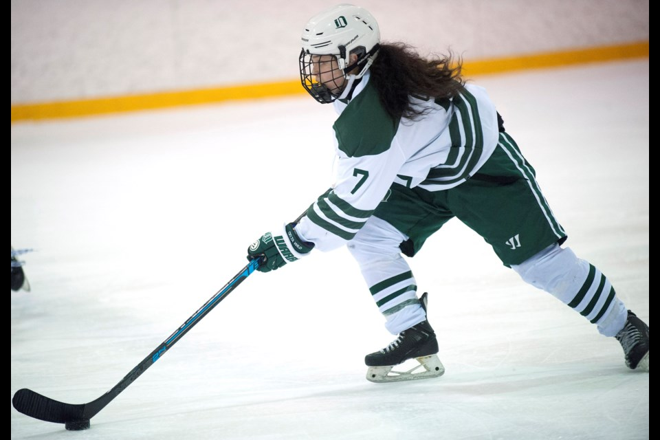 Richmond's Katie Chan is spending her Grade 10 year at the Delta Hockey Academy where she leads the Wild in scoring. Next month she is suiting up for the BC U18 team at the Canada Winter Games.