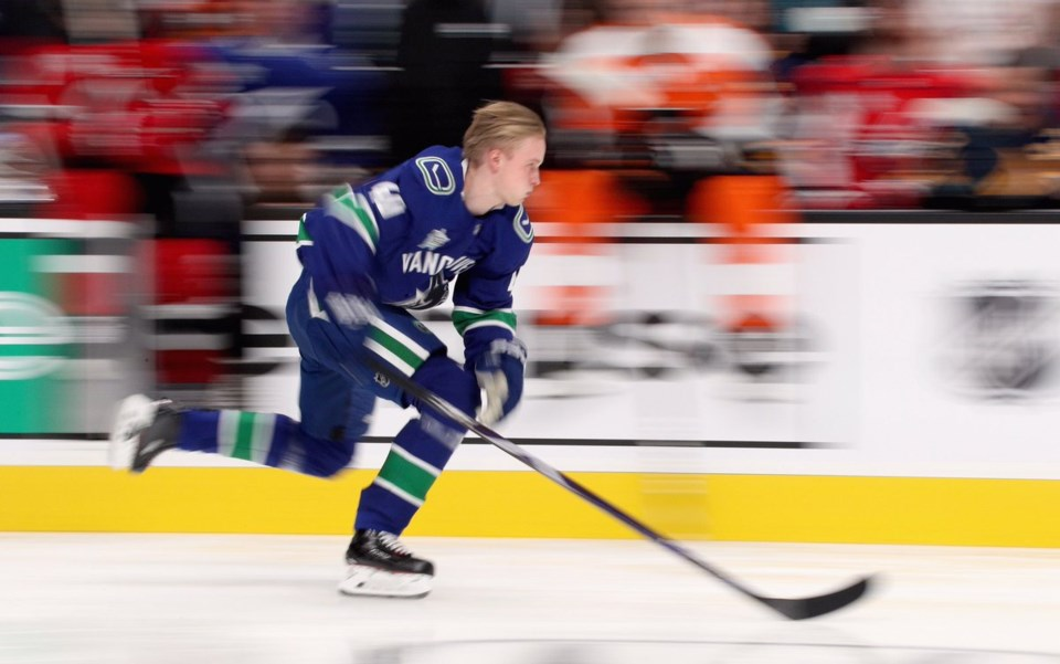 Elias Pettersson in the Fastest Skater competition.