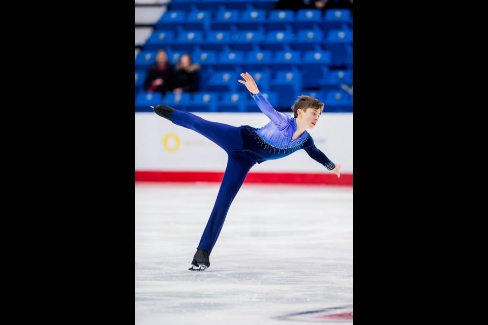 Burnaby's Aleksa Rakic captured the gold medal at the Canadian Tire national figure skating championships earlier this month in St. John, NB. He edged out clubmate Beres Clements in the men's junior division for the title.