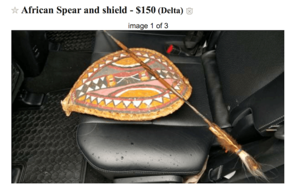 African Spear and Shield