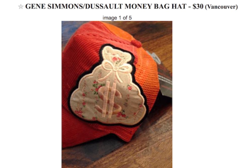 Gene Simmons hat