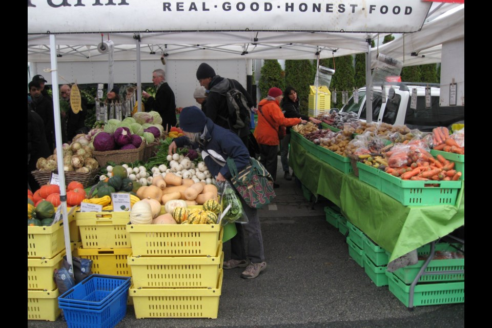 Winter vegetables at the Farmers Market, Nat Bailey stadium, January 2019. Photo: S. Eiche