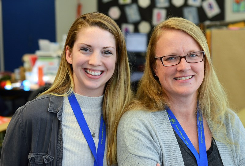 Freshly minted education assistants Wendy Hoag and Mariah Battiston are now working at Cariboo Hill Secondary School after completing the district's education assistant diploma program in November.