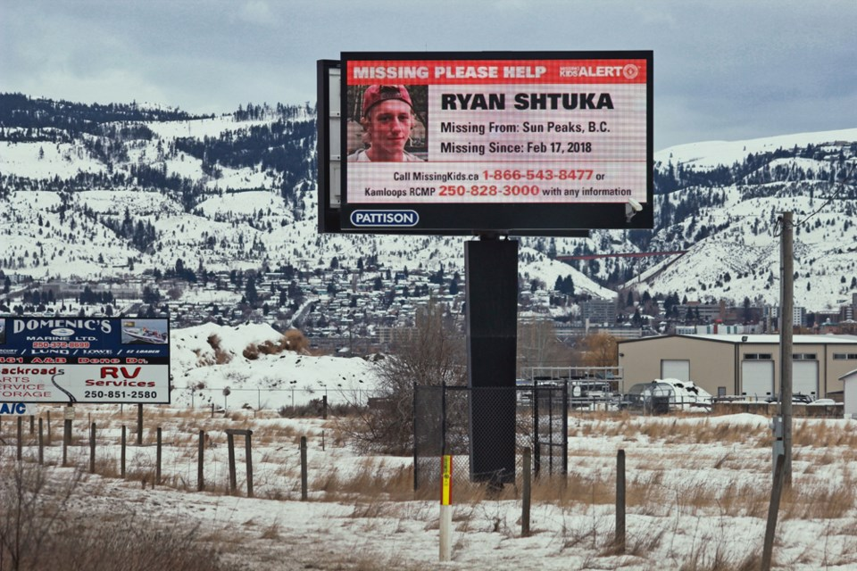 Ryan Shtuka was last seen leaving a party in Sun Peaks on Feb. 17, 2018. One year later, there is still no sign of the young Alberta man who worked last year as a seasonal employee at the mountain resort.