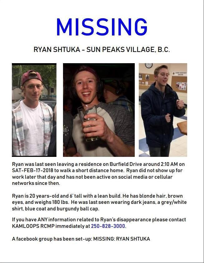 Ryan Shtuka missing poster