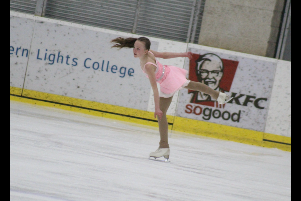 One of DC's hometown skaters, the Mile Zero Figure Skating Club's Nataya Lenart, skating on the Saturday afternoon.