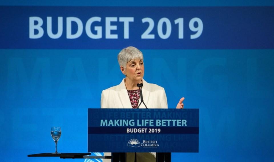 Carole James BC budget 2019