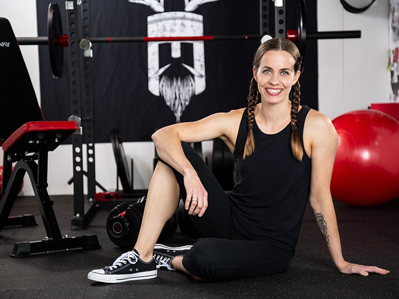 Powell River-based vegan fitness and nutrition coach Karina Inkster