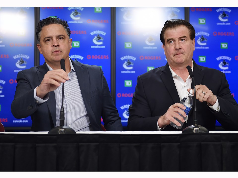 Travis Green and Jim Benning talk to the media heading into the 2018-19 Canucks season.