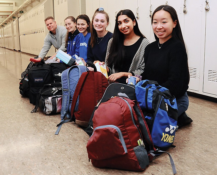 Argyle students with Backpacks
