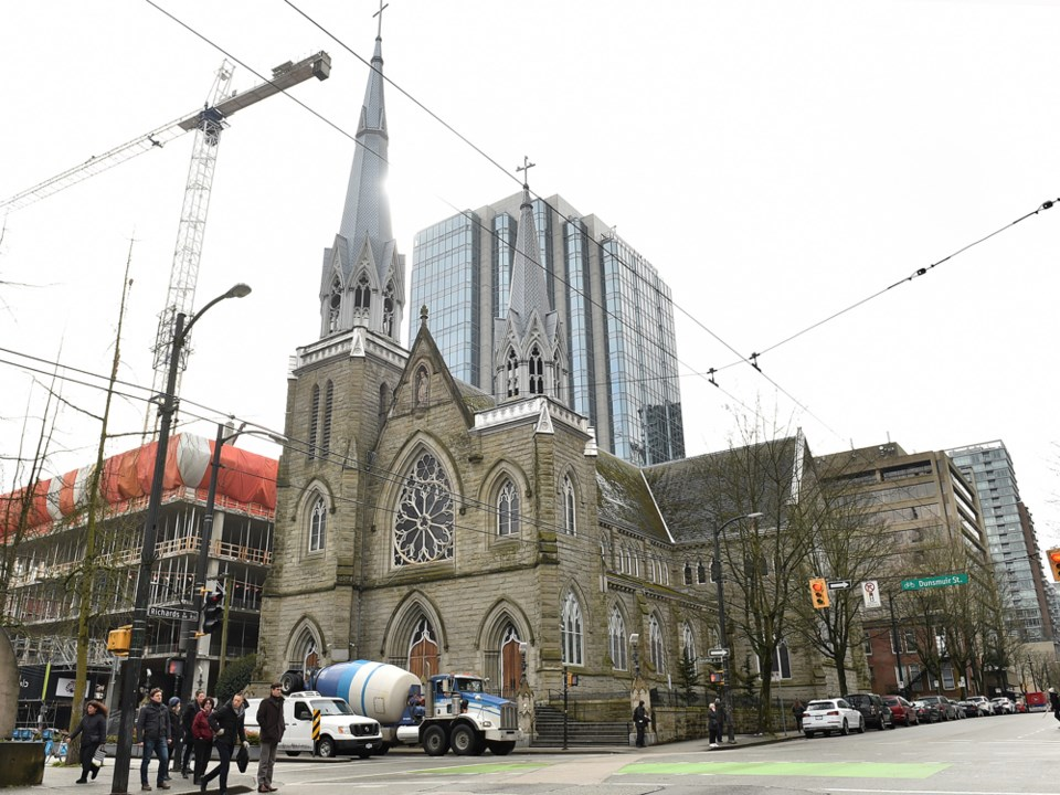 Holy Rosary Cathedral at 646 Richards St.