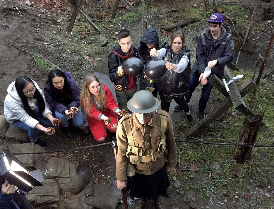 World war one film crew