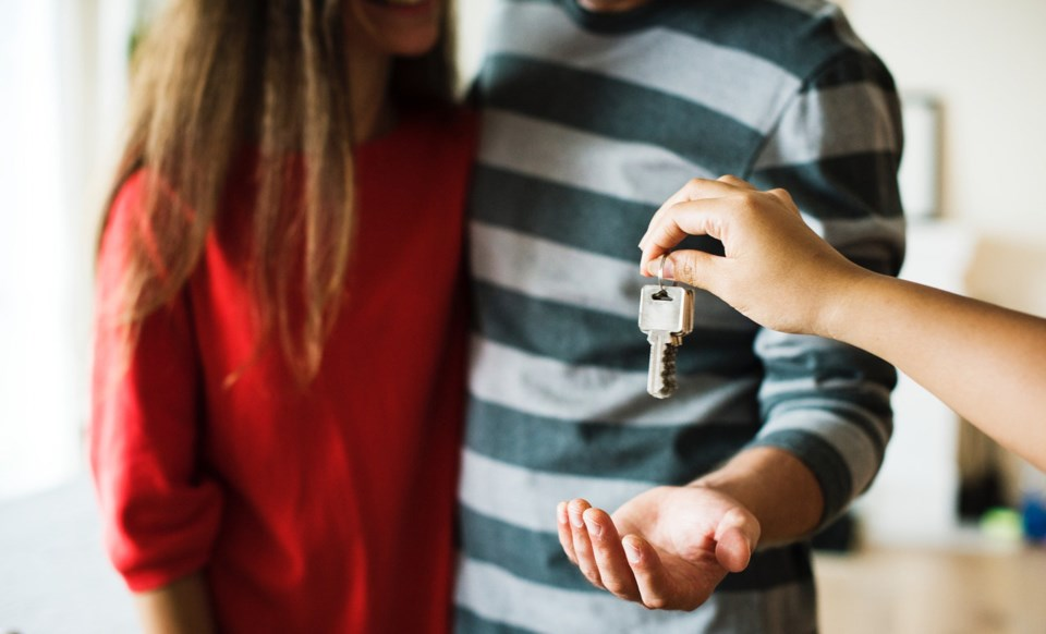 Young couple home buyers