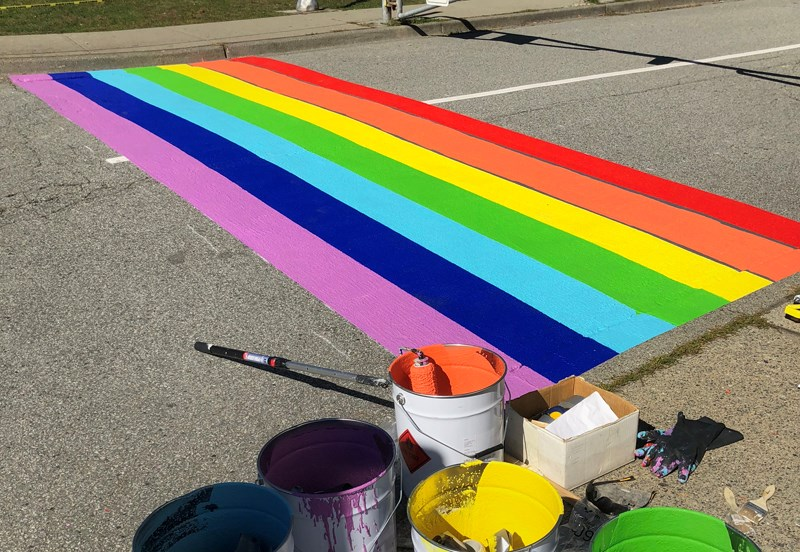 Rainbow crosswalks have been approved for Burnaby Central and Cariboo Hill Secondary schools.