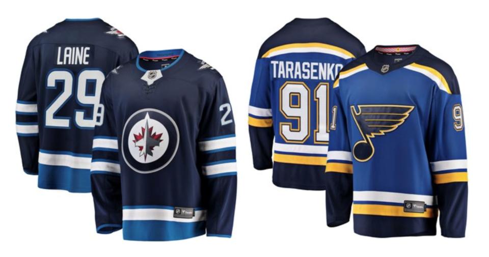 Jets Blues jerseys