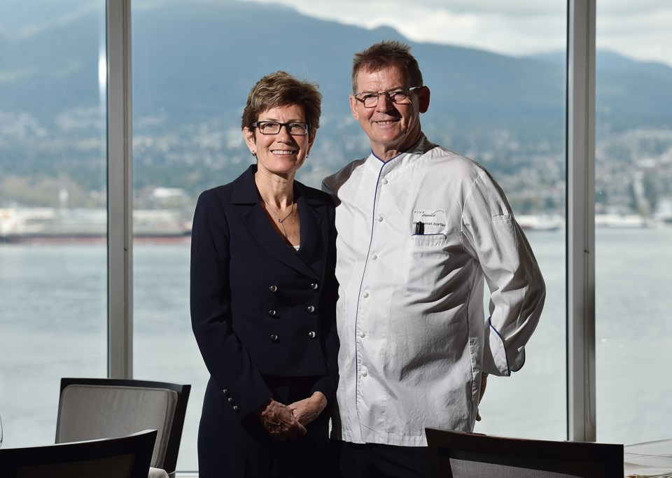 Chef Ernst Dorfler and Gerry Sayers, Five Sails Restaurant, first place fine dining. Photo Dan Toulg