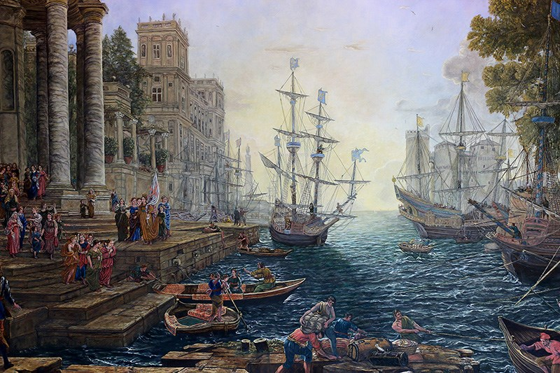 Geracitano's 'Seaport with the Embarkation of Saint Ursula'