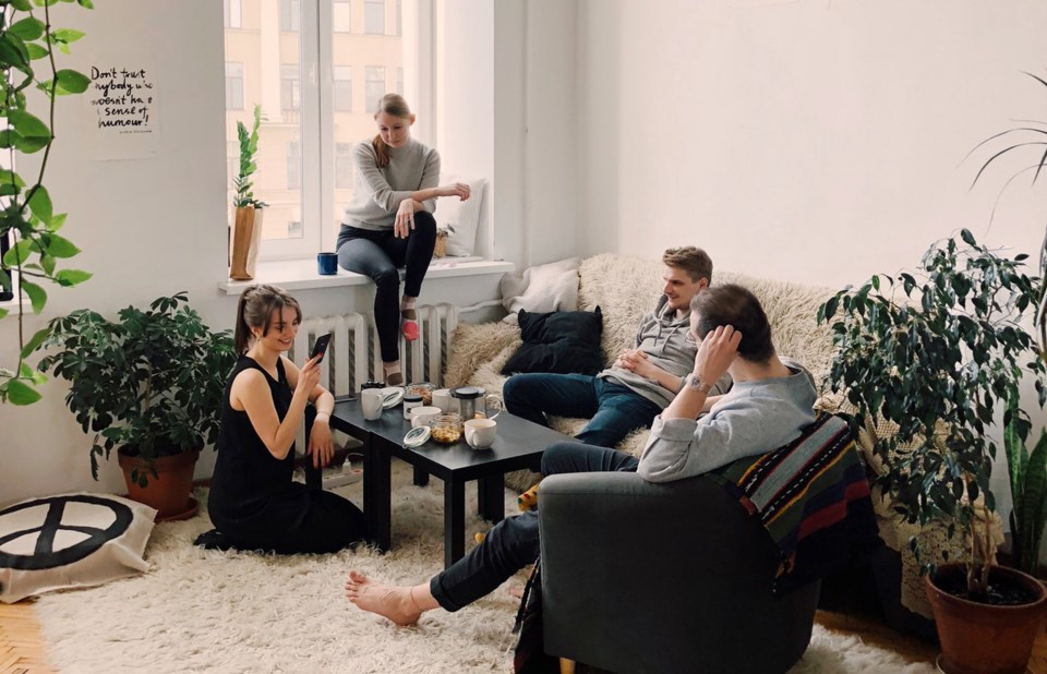 young people apartment sharing home