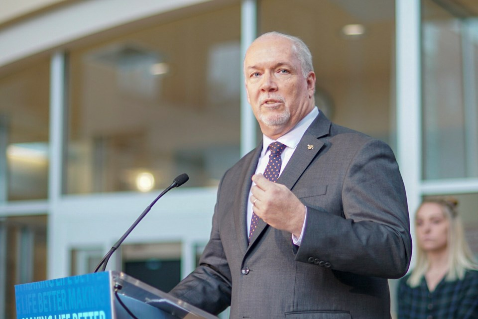 B.C. Premier John Horgan didn't rule out expanding the tuition waiver program in the future. Photo