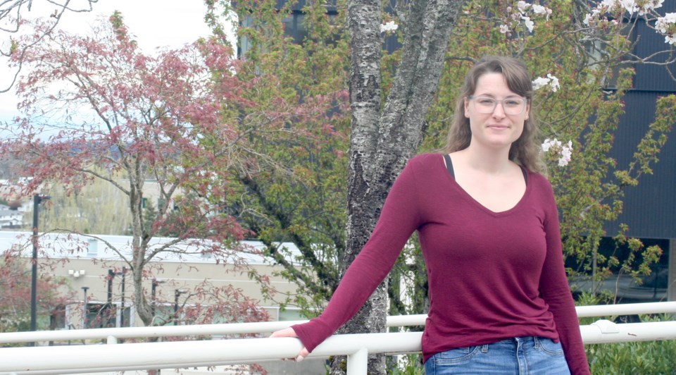 Tia Schaefer is studying for a degree in child and youth care at Vancouver Island University. Photo