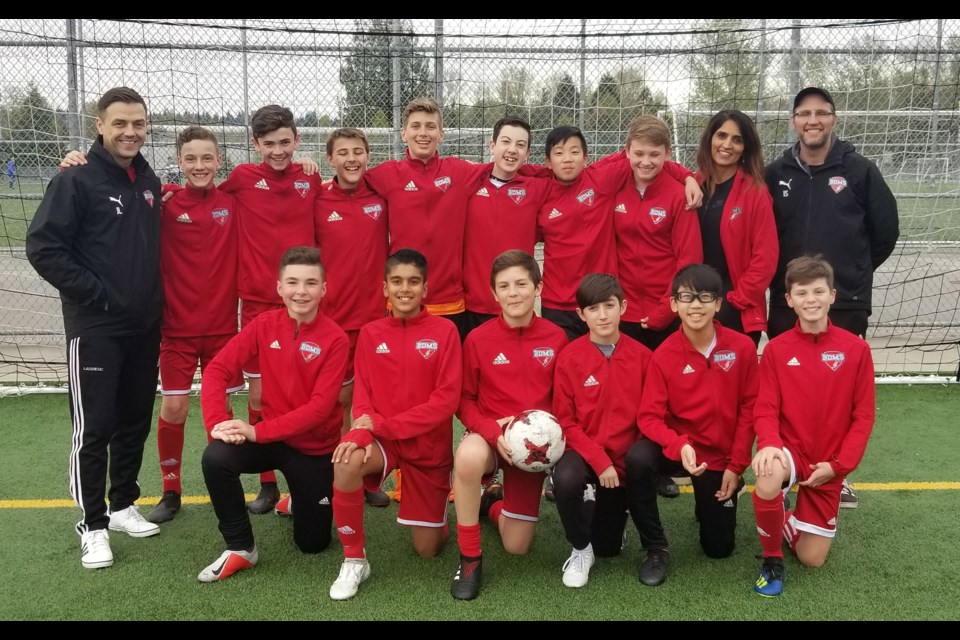 The Burnaby u13 United are off to the Coastal Cup final, thanks to a 2-1 win over North Van last week.