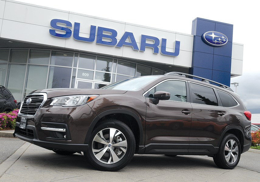Subaru looks like it has a sales winner on its hands with the all-new Ascent three-row SUV. The Ascent features an elegant design, good road dynamics, good fuel economy, ample space and a comfortable interior. It is available Jim Pattison Subaru in the Northshore Auto Mall. photo Mike Wakefield, North Shore News